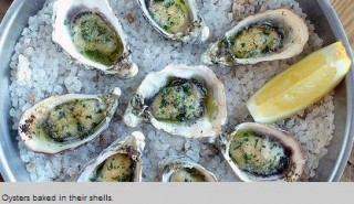OYSTERS BAKED IN THEIR SHELLS