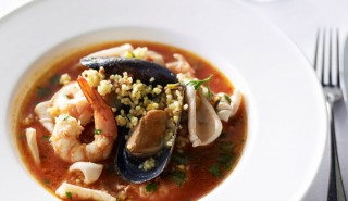 Fregola with Seafood and Saffron