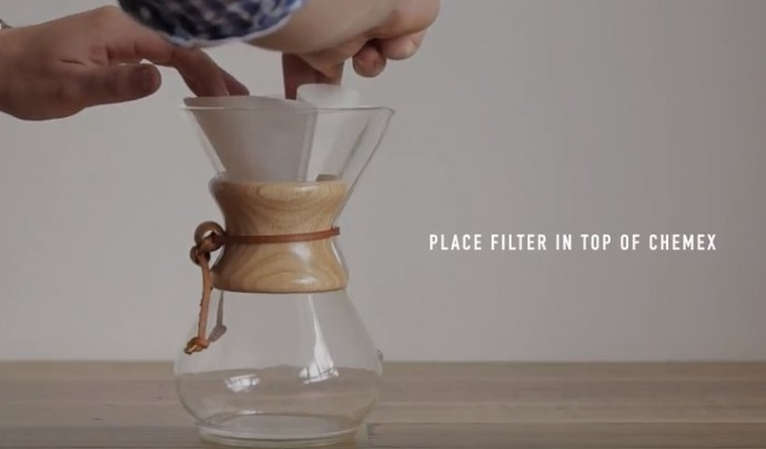 Brewing with Chemex